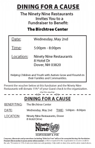 Dining for a Cause @ Ninety Nine Restaurant & Pub Dover