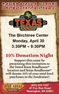Fundraiser Night @ Texas Roadhouse Newington