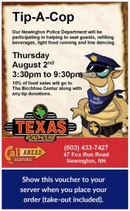 Tip-A-Cop Fundraiser Night @ Texas Roadhouse Newington